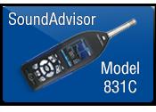 SoundAdvisor 831C äänitason mittari